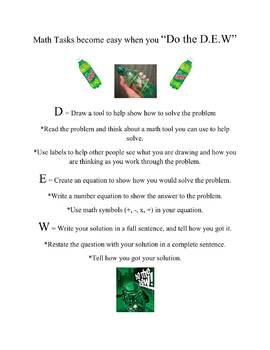 """Do the D.E.W:"" Solving Math Tasks & Short Answer Problems"