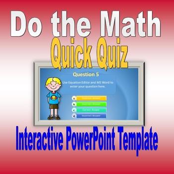 Do the Math Powerpoint Math Opening