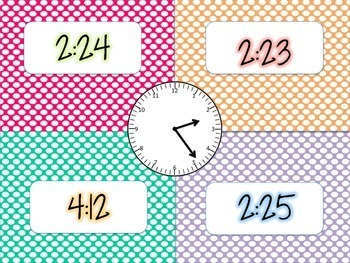 Do the Time Tango - Telling Time to the Minute Four Corner Game