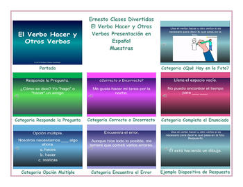 Do versus Make or Hacer Spanish PowerPoint Presentation