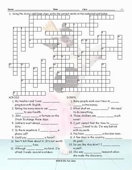Do vs Make Crossword Puzzle