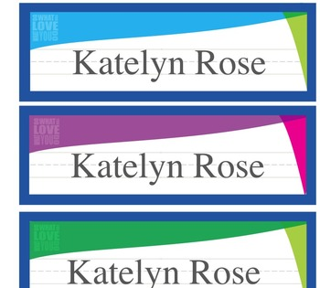 Do What You Love, Love What You Do style Letterhead, Name Plates, and Labels