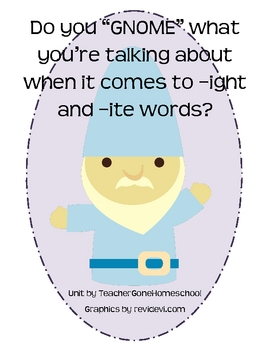 Do you GNOME your -ight and -ite words?