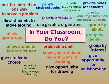 Do you differentiate your instruction?