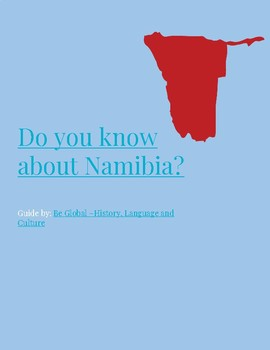 (Africa Geography) Do you know Nambia?—Reading Guide