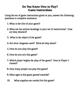 Do you know how to play?