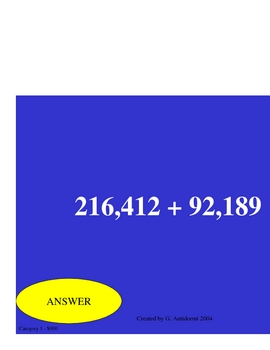 Do you know it? Operations with Whole Numbers a Powerpoint Game
