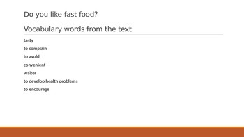 IR Do you like fast food lesson ppt