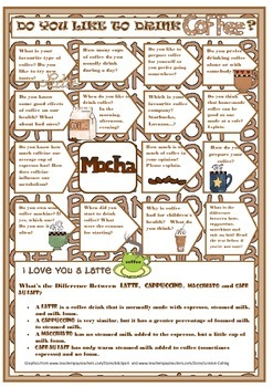 Do you like to drink coffee? - Speaking activity for EFL and ESL students