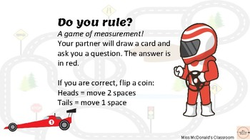Do you rule? Length game for stage 1 (measurement)