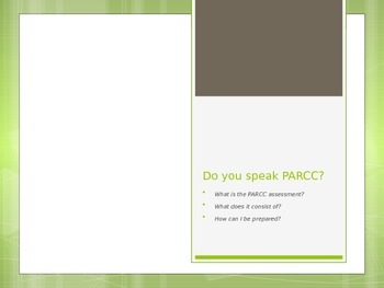 Do you speak PARCC?