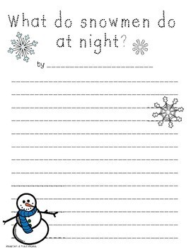Do you want to be a SNOWMAN? Craftivity!