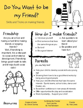 Do you want to be my Friend? Handout