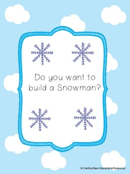 Do you want to build a Snowman? NO PREP Roll and Draw activity