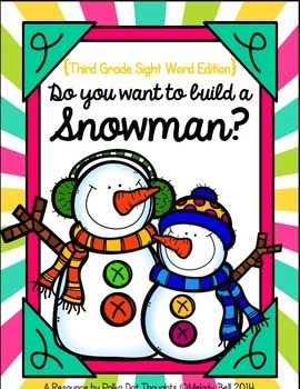Do you want to build a Snowman? {Third Grade Sight Words}