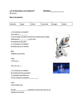 Do you want to build a snowman? Lyrics/cloze Spanish