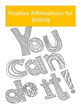 Do Your Best For The Test Positive Affirmations Coloring Pages