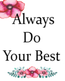 Do your best watercolor poster