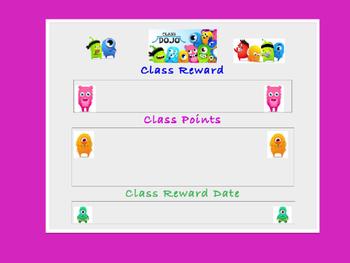 DoJo Reward Poster, Parent Letter, Student Rewards Sheet,