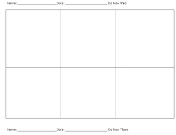 DoNows/Bellwork Template