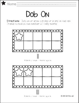 Dob and Tally with Ten Frames