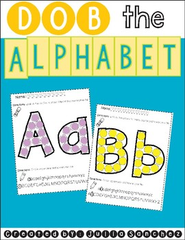 Dob the Alphabet (Identifying Uppercase and Lowercase Letters)