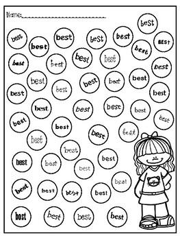 Dobber Dots Dolch 2nd Grade