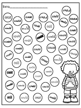 Dobber Dots Dolch 1st Grade