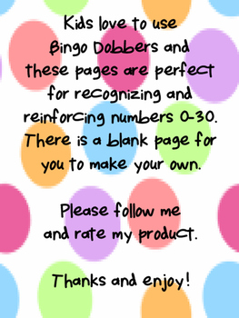 Dobber Dots Numbers
