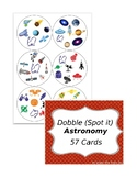 Dobble (Spot it) Astronomy 57 cards