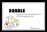 Dobble de vocales, números y formas geométricas