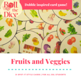 Dobble inspired Fruits and Veggies Game | Distance Learning