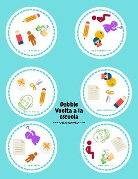 Dobble school materials and classroom instructions- vuelta al colegio