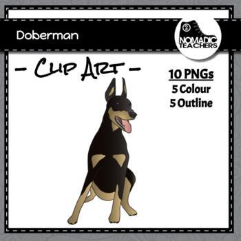 Doberman (Dog) Clip Art - 10 PNGS