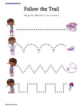 Doc McStuffins Preschool Activity