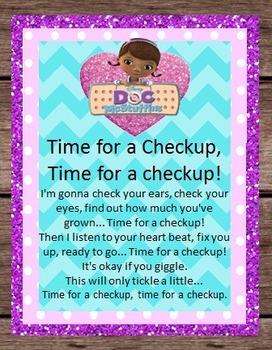 Doc McStuffins Song Lyrics Disney Birthday Party Pretend Dramatic Play - Doctor