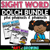 Kindergarten Sight Word Worksheets - Dolch Pre-Primer & Primer Bundle!
