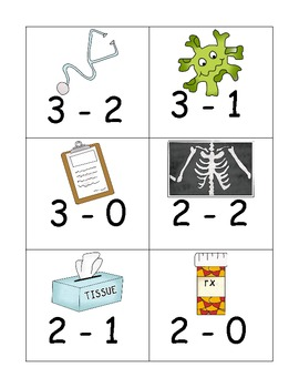 Doctor Addition And Subtraction Game to Five