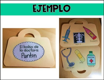 Doctor Bag Craft and Labeling Activity in Spanish