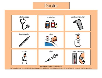 Doctor Bingo! Single Board [speech therapy and autism]
