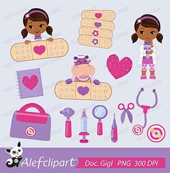 Doctor Clipart,  Little Doctor Clipart, Doc McStuffins Clipart.