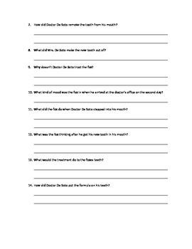 Doctor De Soto Comprehension Questions
