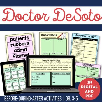 Doctor DeSoto Guided Reading and Writing Activities
