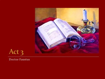Doctor Faustus PowerPoint -- Act 3 (AP)