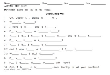 Doctor Help Me: Listening Dictation And Silly Story For Health, Body, & Doctors