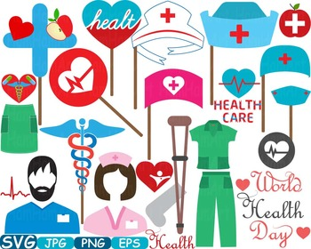 Doctor Medic Props Party Photo Booth Clip art medicine med school graduate -206S