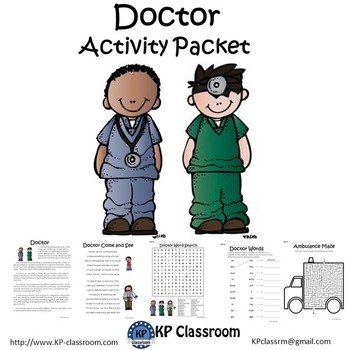 Doctor No Prep Activity Packet and Worksheets