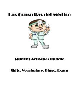 Spanish Doctors Office- Oficina del Medico Student Activities and Exam