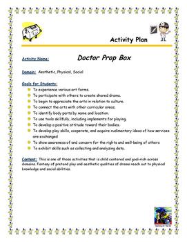 Doctor Prop Box Activity Plan