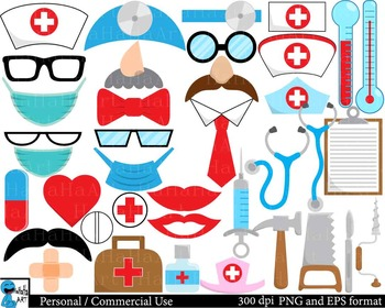 Doctor Props Digital Clip Art Personal Commercial Use 166 images cod171